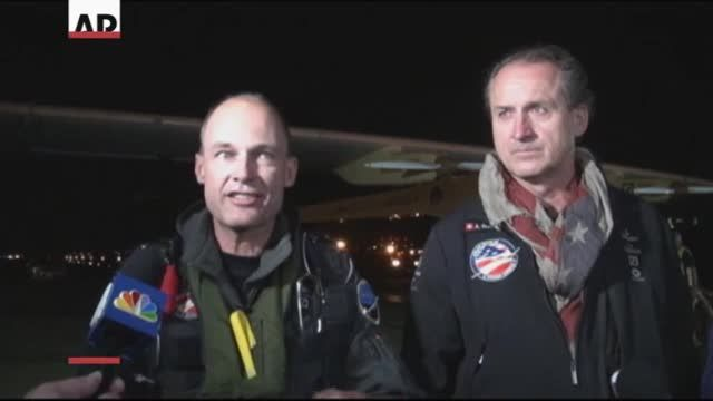 News video: Solar Plane Reaches East Coast